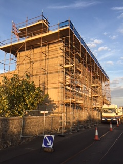 light scaffolding and erection at Ballyshannon, Donegal