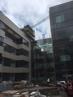 Scaffolding hire for Ulster Hospital.
