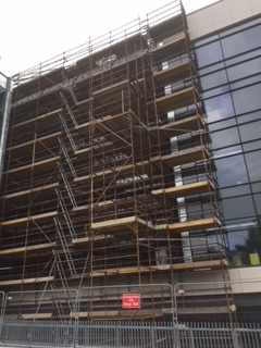 Scaffolding rental for Ulster Hostipal.