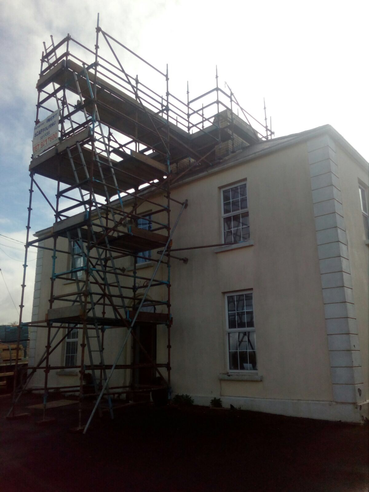 Chimney Scaffold erection and hire